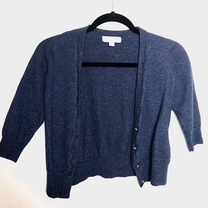 Merona Wool Navy Box sweater L